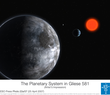 The Planetary System in Gliese 581